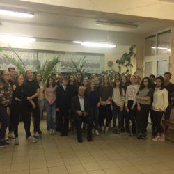 В четверг, 11 октября, в ЭБО, состоялась встреча воспитанников с профессором,доктором медицинских наук, академиком - Сергеем Александровичем Варзиным.
